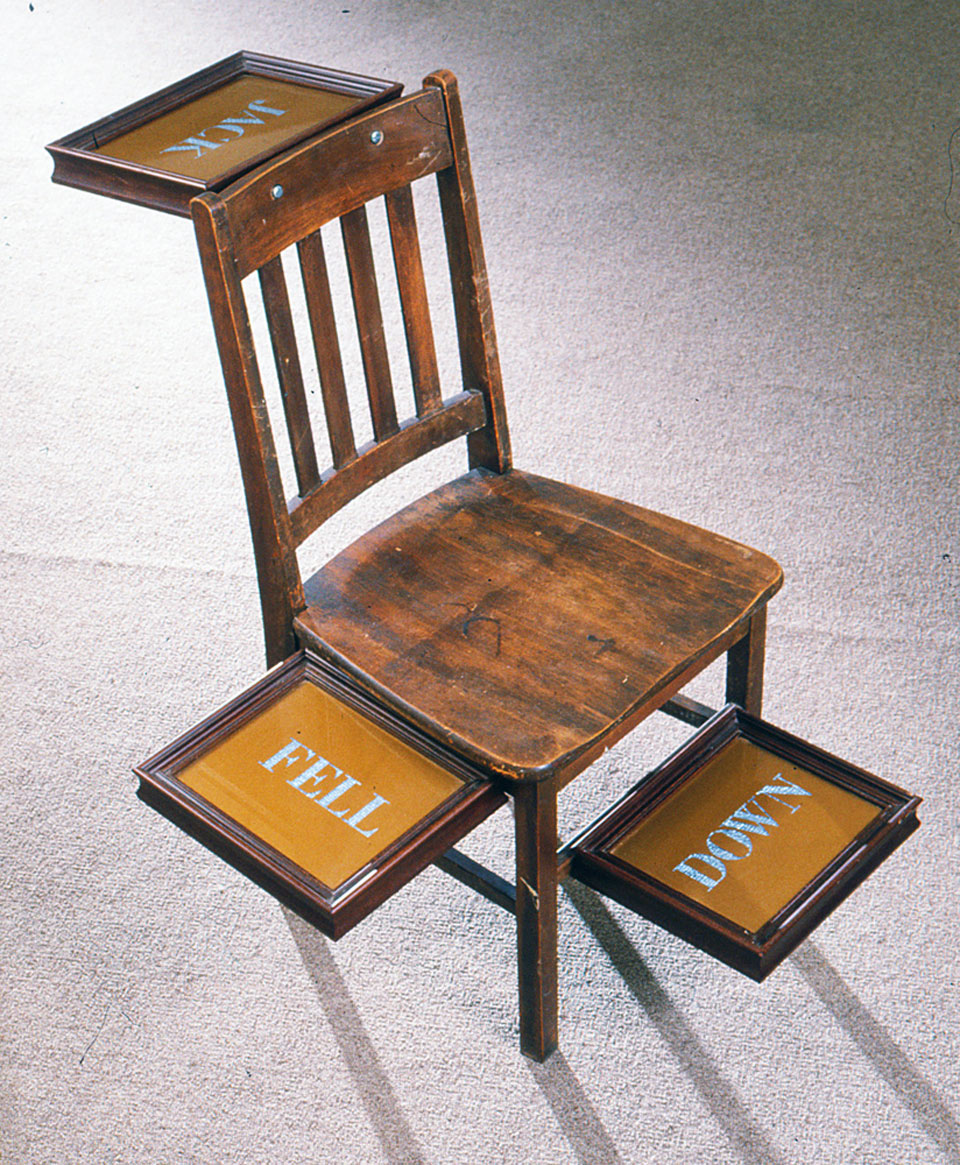 nayland blake jack fell down chair frames text 1986